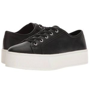 Steve Madden FUTURE Faux Leather Flatform Sneakers